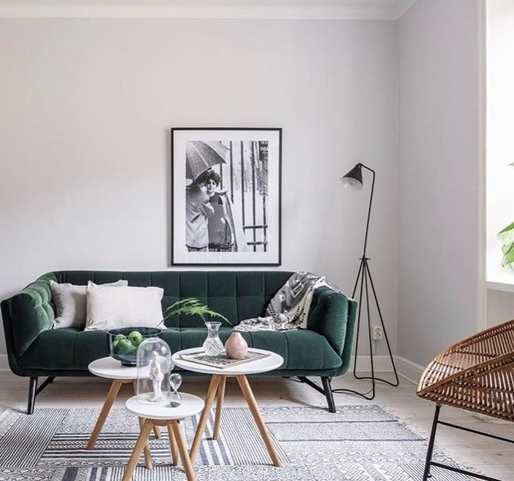 sofá terciopelo verde