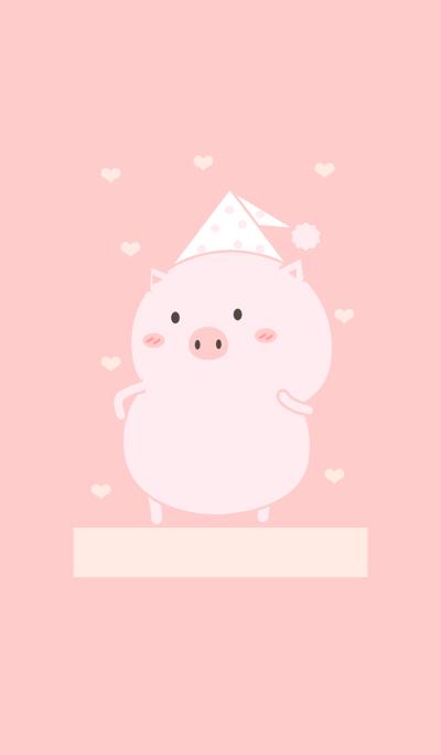 Cute Pig Pink