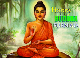 Lord Buddha image with Buddha Purnima greetings wishes
