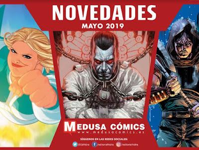 """Novedades mayo 2019 de """"Medusa Cómics""""."""