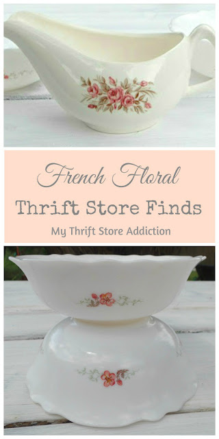 French floral thrift store finds