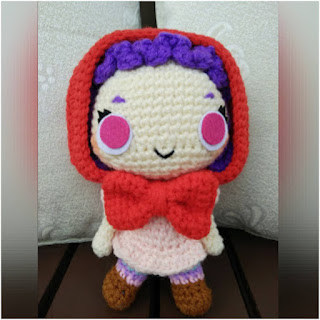 patron amigurumi Caperucita roja the duchess hands