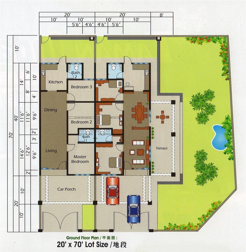 Taman Indah Ii 63 Unit Rumah Teres Setingkat