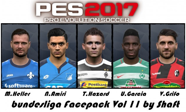 PES 2017 bundesliga Facepack Vol 11 by Shaft