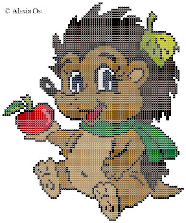 Free cross-stitch patterns, Baby Hedgehog, hedgehog, animal, clipart, cross-stitch, back stitch, cross-stitch scheme, free pattern, x-stitchmagic.blogspot.it, вышивка крестиком, бесплатная схема, punto croce, schemi punto croce gratis, DMC, blocks, symbols, patrones punto de cruz, #crossstitch_pattern, #crossstitch