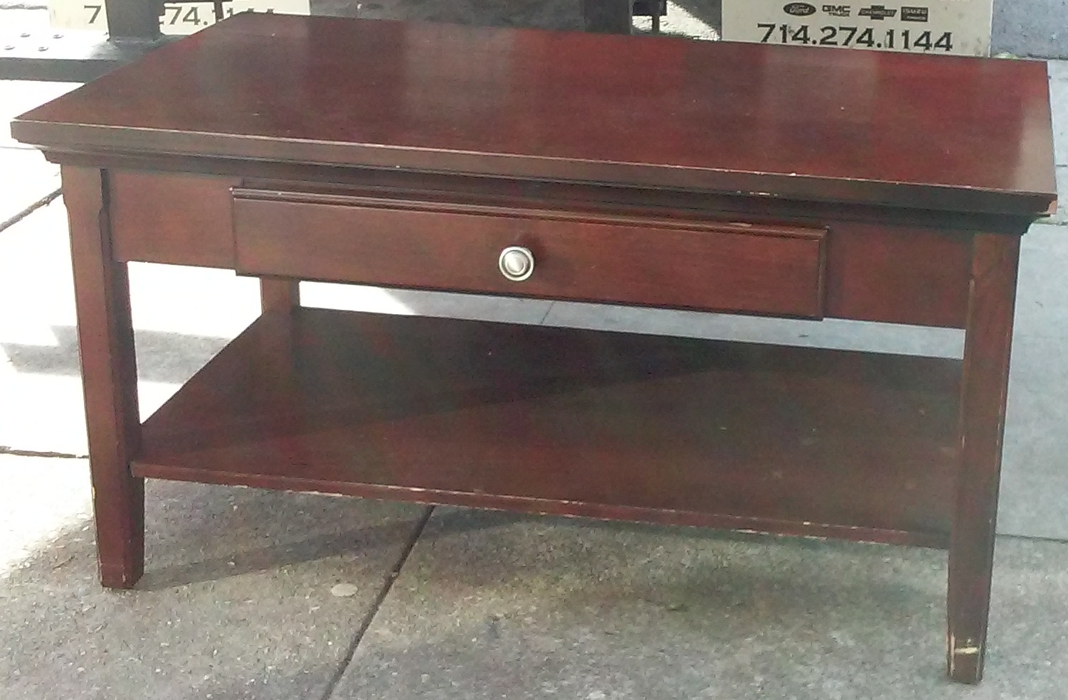 uhuru furniture collectibles sold 38 wide modern mahogany coffee