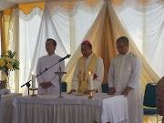 Upacara peletakan batu pertama Oleh Bapa Uskup Agung KAS Untuk pembangunan gedung sarana pastoral Di Paroki Hati Tak Bernoda Santa Perawan Maria Boyolali