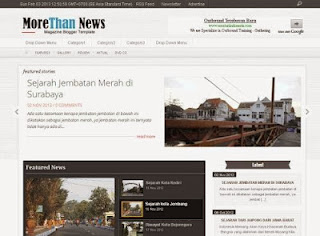 More Than News Blogger Template
