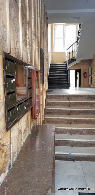 Śródmieście Warszawa Warsaw Aleksander Więckowski art deco kamienica architektura lata 30. klatka schodowa schody marmur