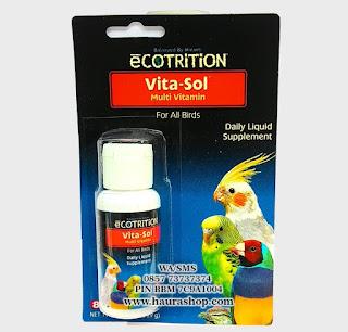 Vitasol (8 in 1 Pet Produk) adalah Suplemen dan Multivitamin dosis tinggi yang bisa digunakan untuk burung kesayangan Anda.