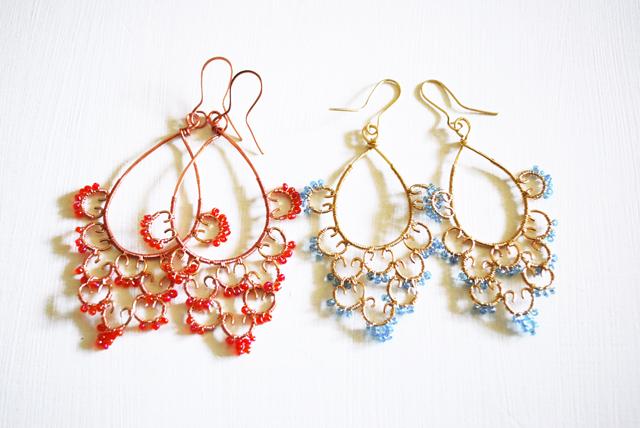 Orecchini Beads colorate
