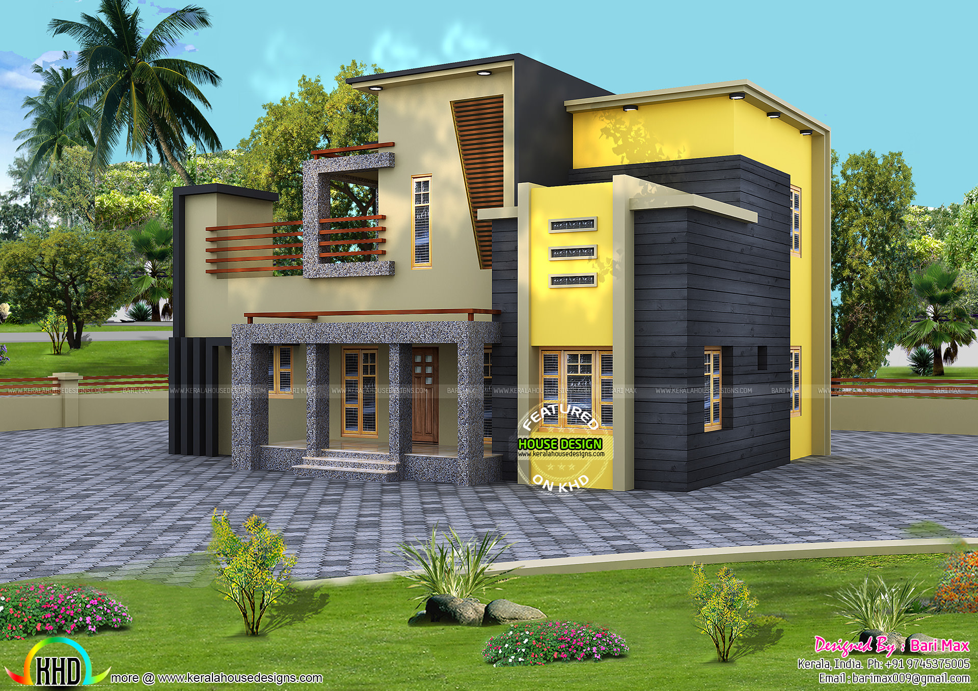 100 Kerala Home Design 1800 Sq Ft 4 Bhk Modern