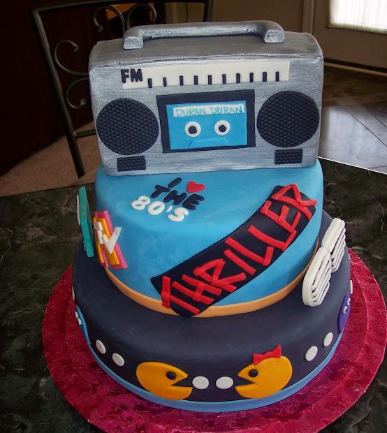 Mtv 80s Birthday Cake