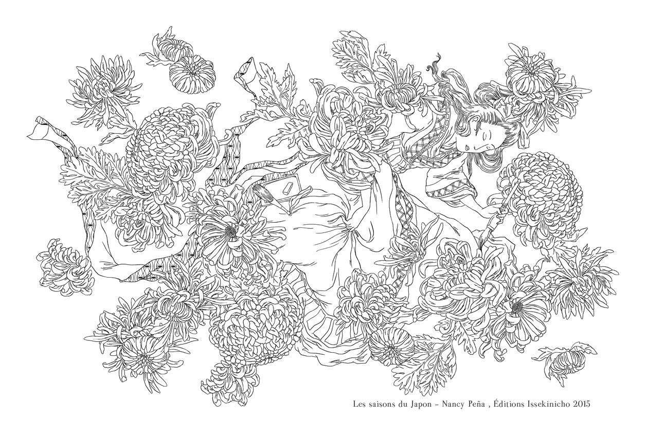 Coloriage Magique Japon.L Etang De Kaeru Colorier Japonais Avec L Illustratrice