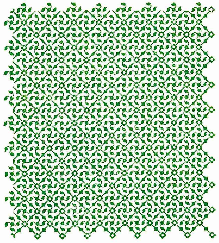 a green textile from India, 1900?