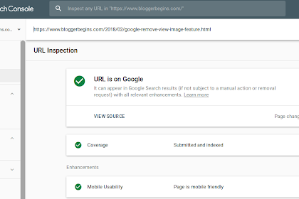 To submit a URL to the Google Index