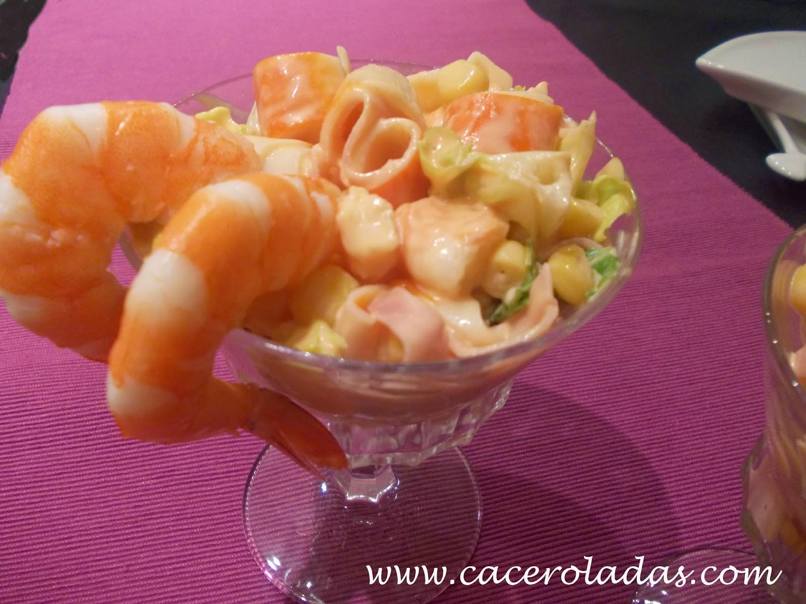 C ctel de marisco caceroladas c ctel de marisco - Coctel de marisco ingredientes ...