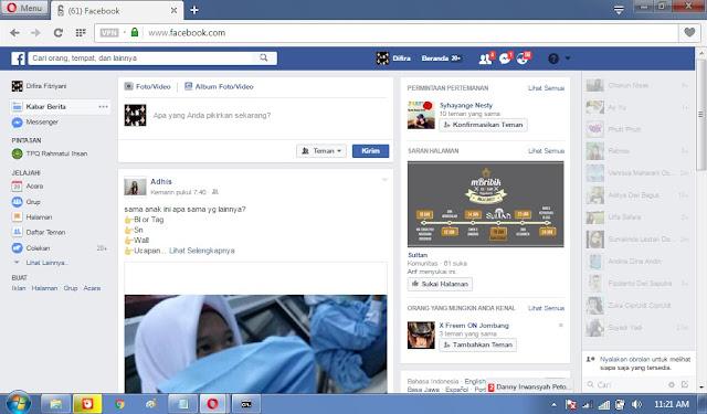 Hasil FB yang sudah Offline