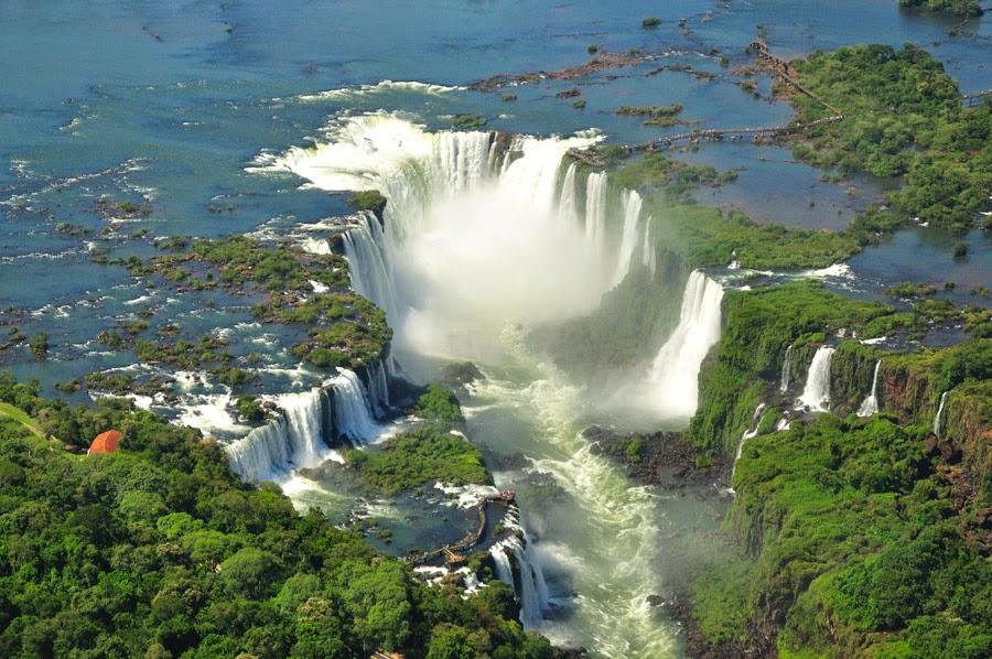 Cataratas de Iguazú, foto aérea