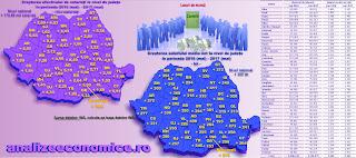 Topul județelor după creșterea salariiilor