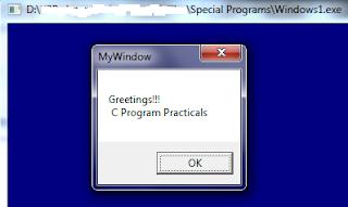 Windows Message Box