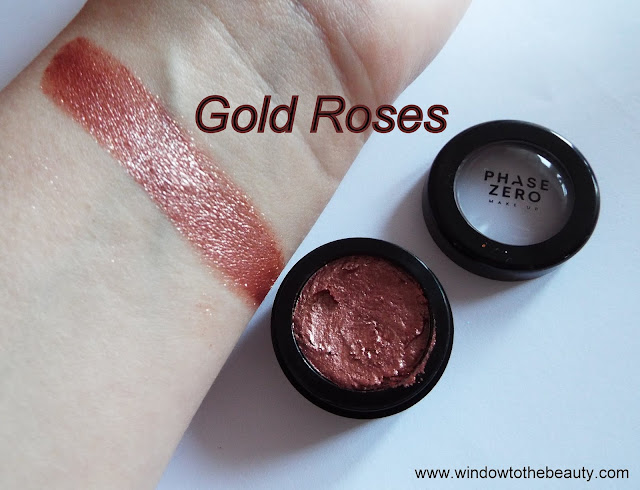 Metal Foil Eyeshadow Gold Roses swatches