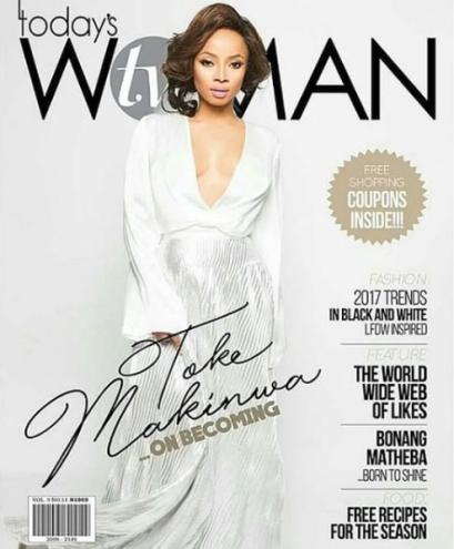 Toke Makinwa covers Today's Woman