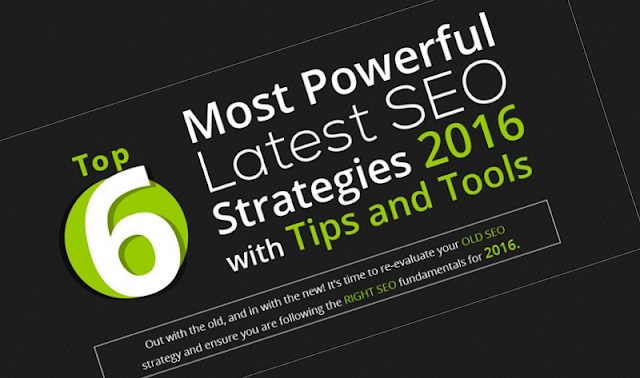 Top 6 Most Powerful Latest #SEO Strategies 2016 with Tips & Tools - #infographic