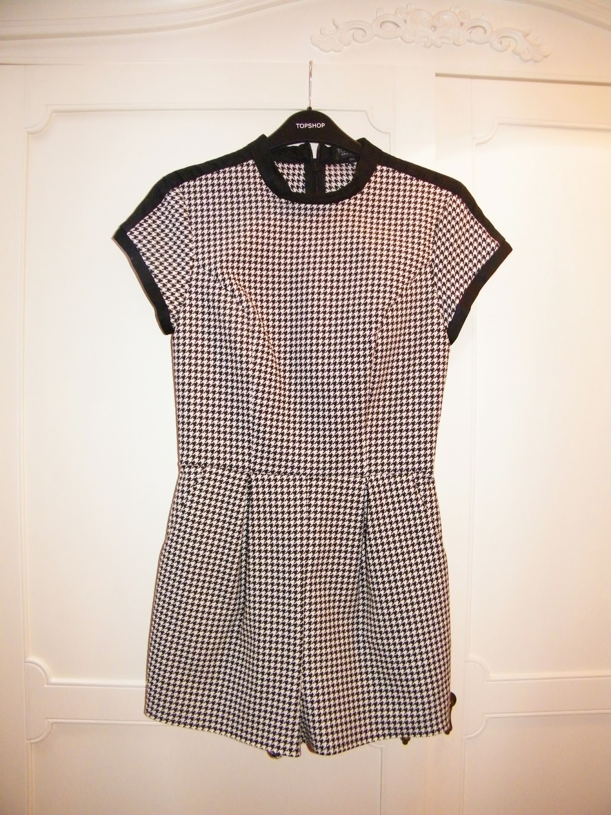Topshop Houndstooth Playsuit