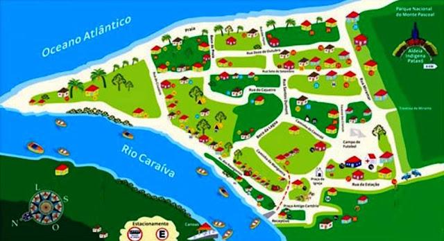 Mapa Caraíva