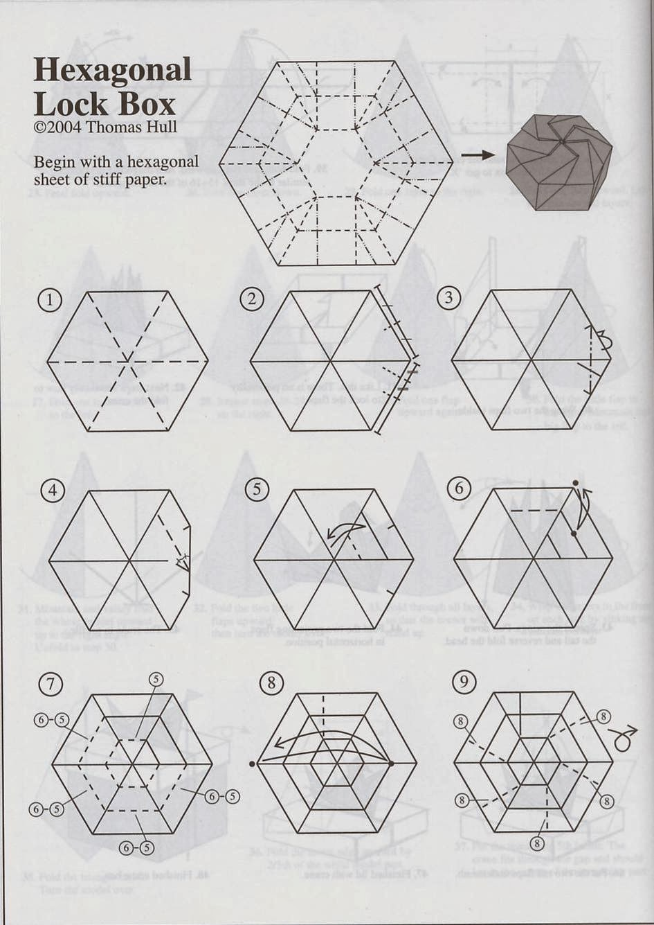hight resolution of tomoko fuse hexagon box instruction