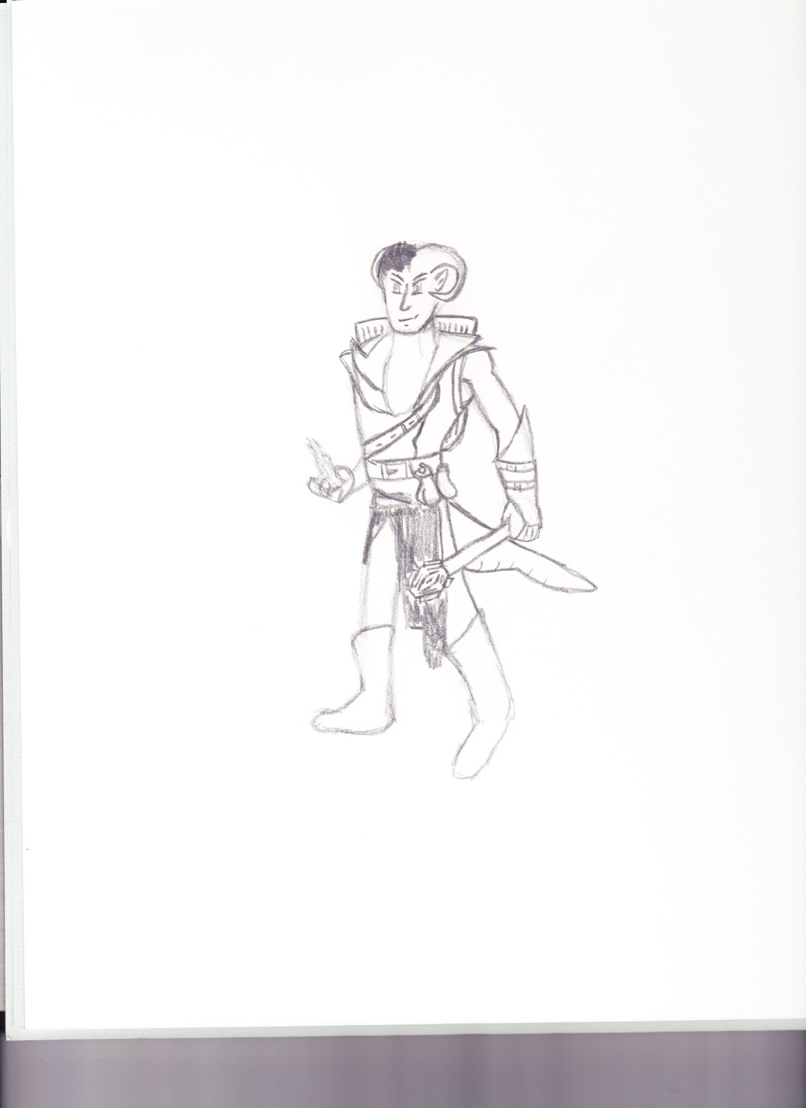 OC Learns to Draw: DnD Sketches (Halfling Rogue, Tiefling