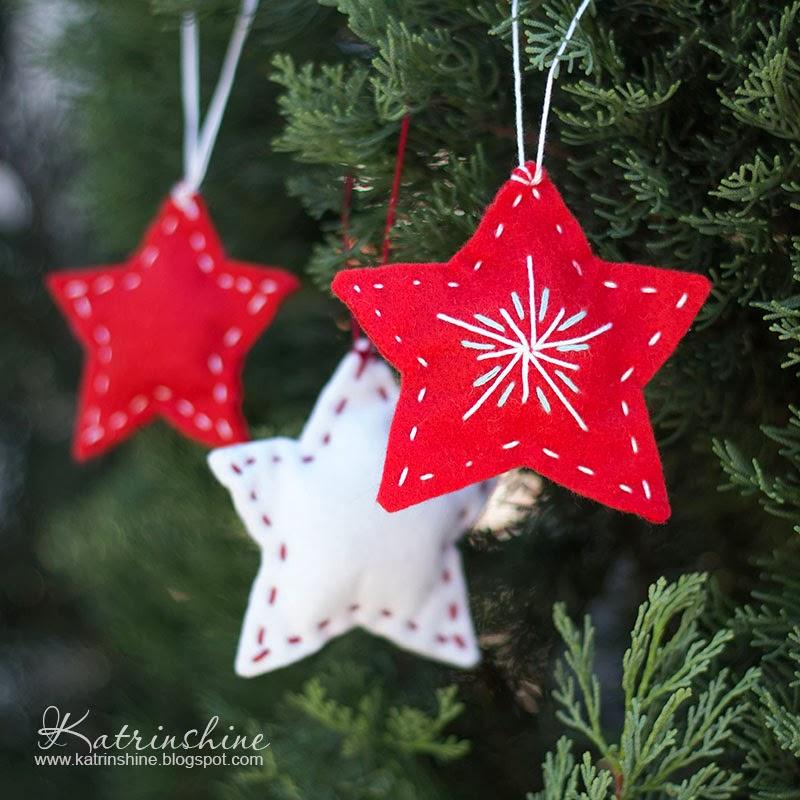 Katrinshine: Felt Christmas tree ornament DIY