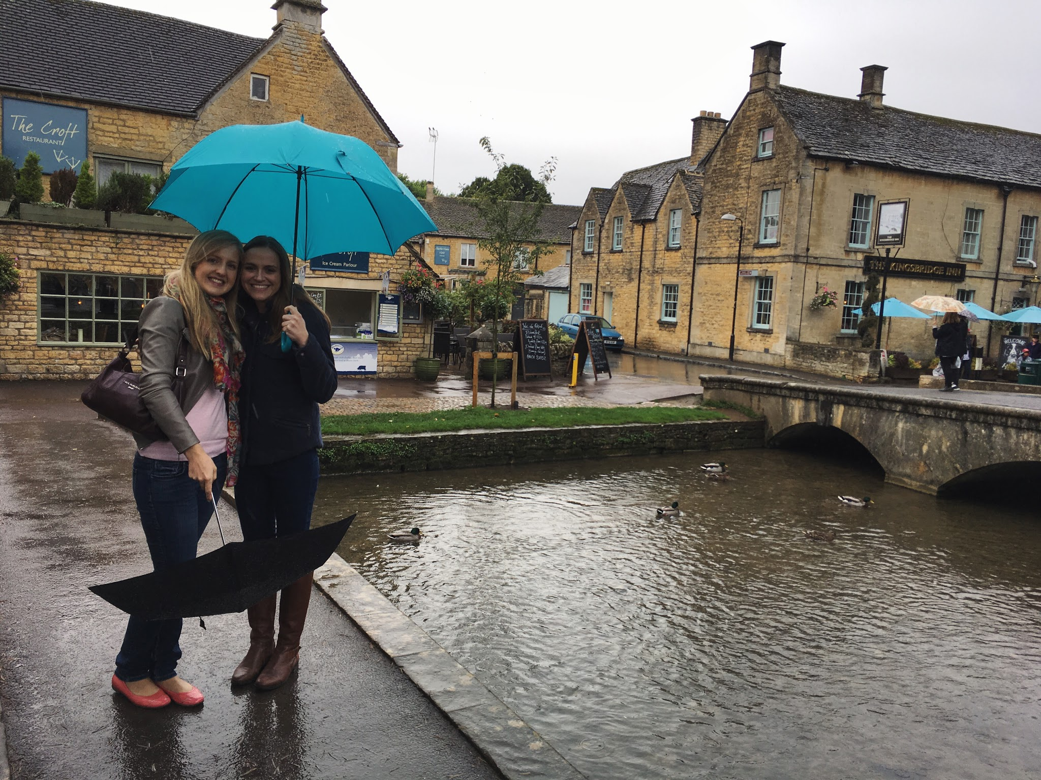 Rain in Bourton-on-the-Water