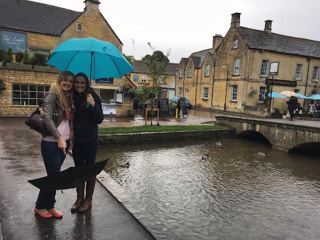 Rain in Bourton-on-the-Water