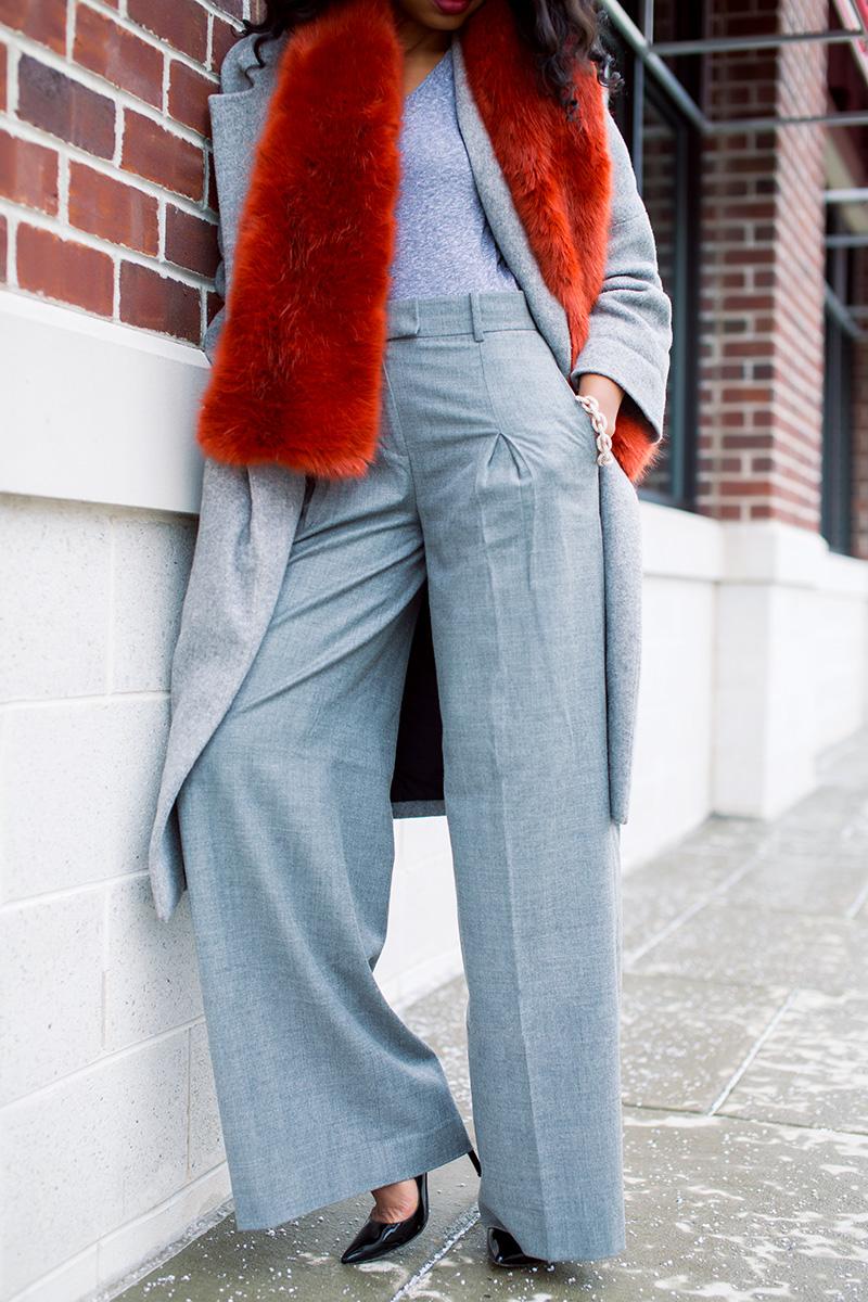 Winter look, bundle up, jcrew stole, statement coats, www.jadore-fashion.com