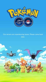 Pokemon GO keluar tulisan Our servers are experiencing issues.please come back later