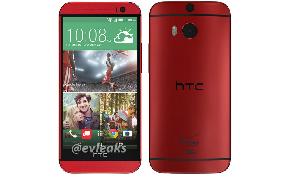 HTC One 2014 (M8) leaks in Red for Verizon Wireless ~ THE