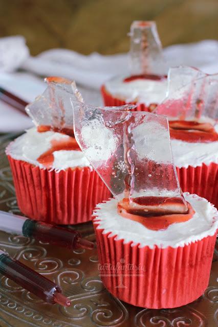 Tutorial Cristal comestible para cupcakes sangrientos