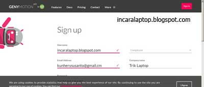 Register - cara install OS Android Di Laptop