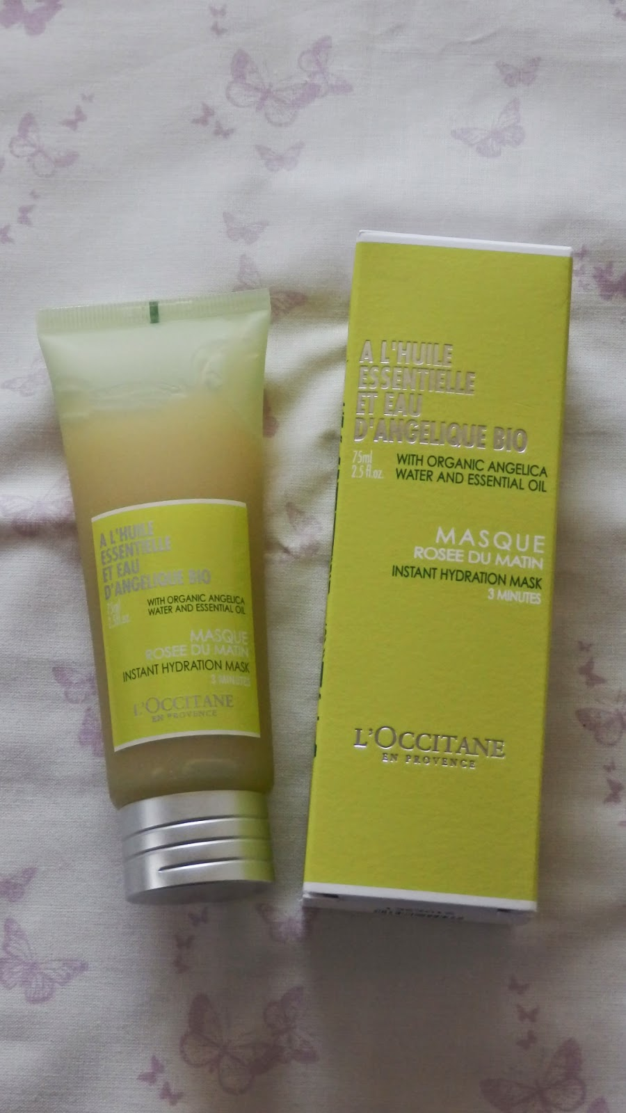 L'Occitane Instyle Shopping Event Haul Angelica Instant Hydratration Mask
