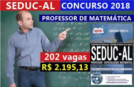 Concurso SEDUC-AL 2018 Professor de Matemática
