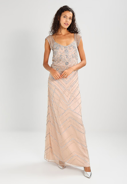 Frock and Frill - Drop Waist All Over Sequin Maxi Dress