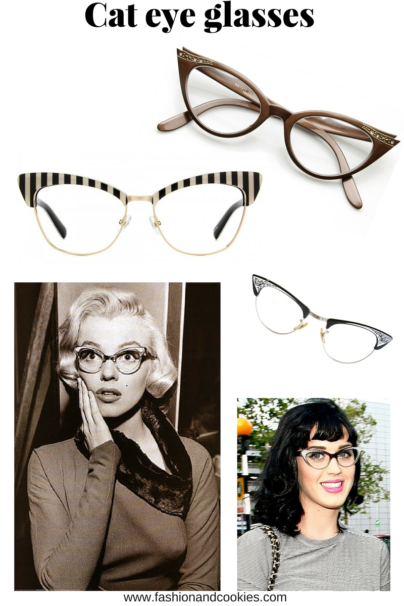 Cat eye eyeglasses, prescription eyeglasses can be also a glam fashion accessory especially with a retro style, now on Fashion and Cookies fashion blog, fashion blogger style