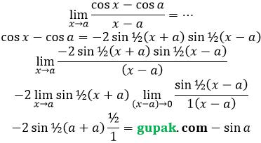 limit cos per x