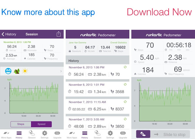 Download Runtastic Pedometer Step Counter for iOS