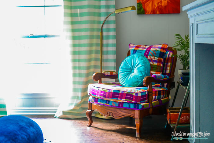 Bright and Colorful Arm Chair