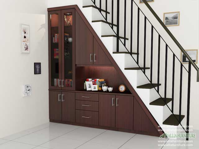 lemari bawah tangga minimalis model area
