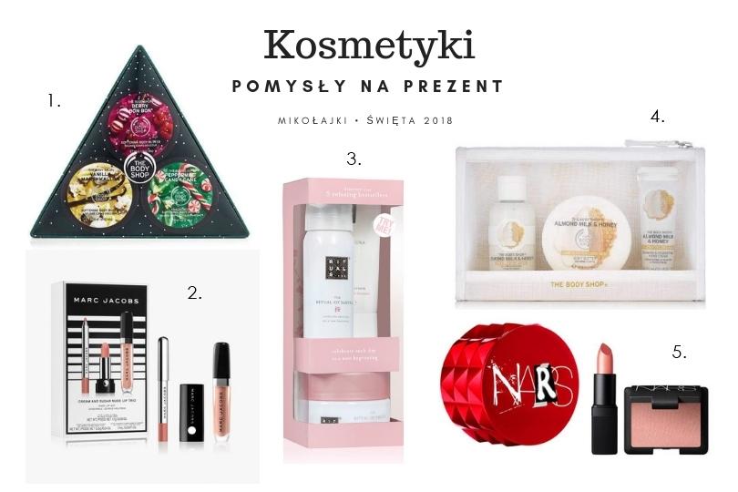 świąteczne zestawy kosmetyków na prezent pod choinkę