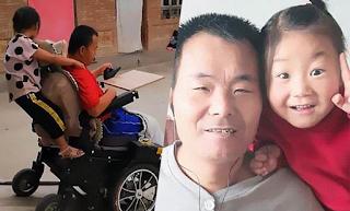 Κοpίτσι 6 ετών φροντίζει μόνο του τον παράλυτο μπαμπά του, αφού η μητέρα του τους παράτησε κι έφυγε!